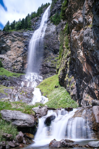 Fallbach Wasserfall Maltatal in Langzeitbelichtung