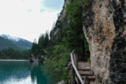 Pragser Wildsee, Treppe am Berg