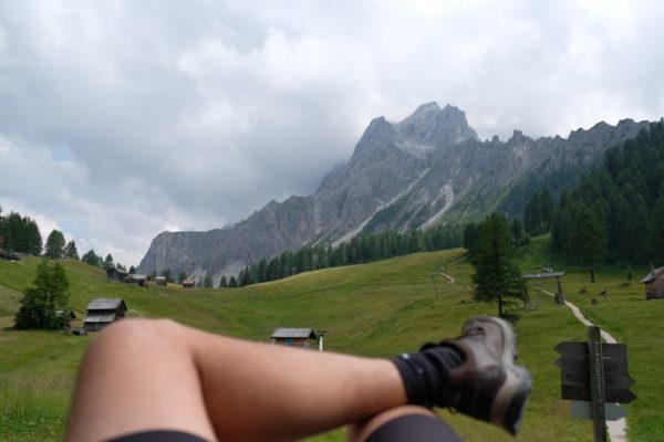 Rotwandwiesen, ausruhen mit Blick auf die Berge
